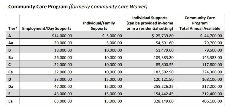 community care program chart